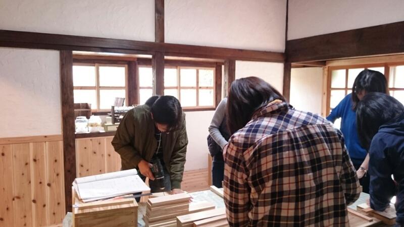 笠部のおうちで木工教室