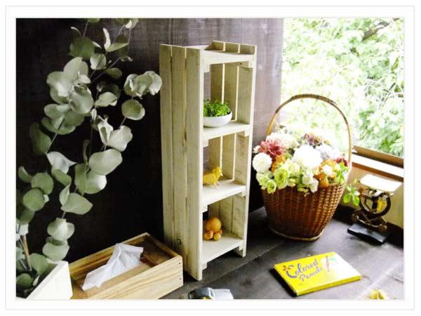 sw06三段飾り棚 木工作品
