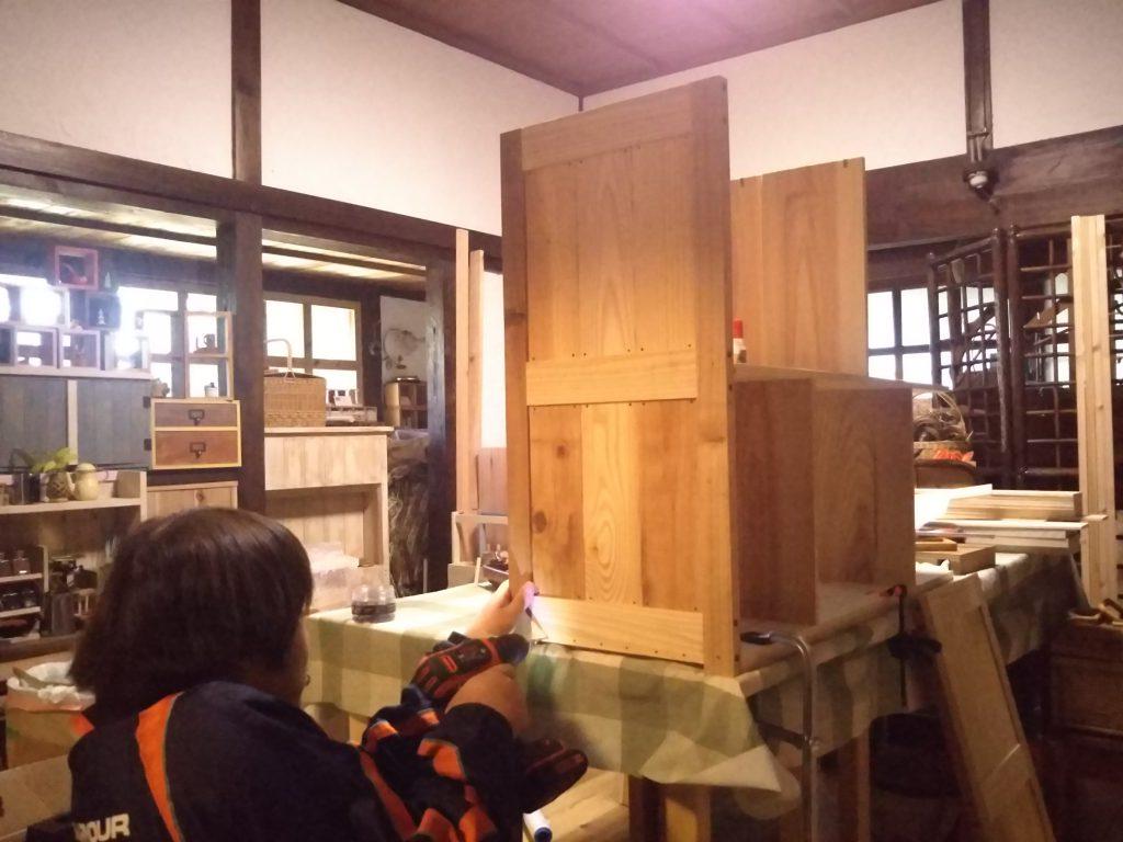 スマイルウッド木工棚づくり